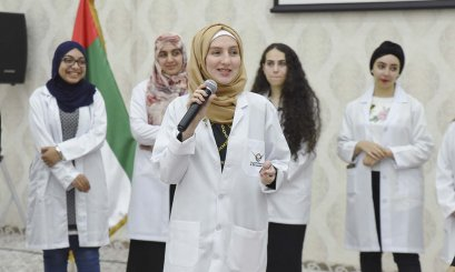 New pharmacists were welcomed by their faculty members