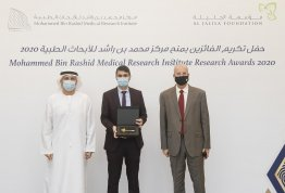 A research team from AAU wins a financial grant from Al Jalila Foundation to find a treatment for Covid-19